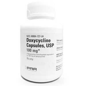 Doxycycline 100 mg, 500 Capsules