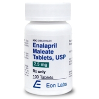 Enalapril 2.5 mg, 100 Tablets