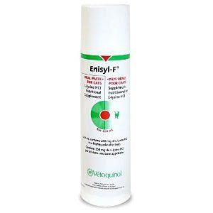 Enisyl-F (L-Lysine) Nutritional Supplement for Cats, 100 mL - 6 Pack