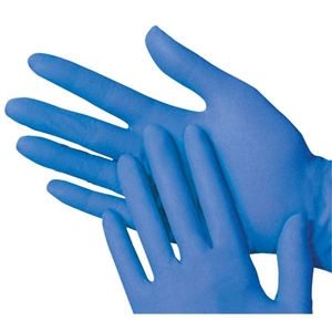 Blue Nitrile Exam Gloves, Large, 100
