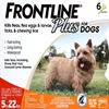 Frontline Plus for Dogs 5-22 lbs, Orange, 6 Pack