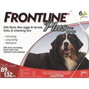 Frontline Plus for Dogs 89-132 lbs, Red, 12 Pack
