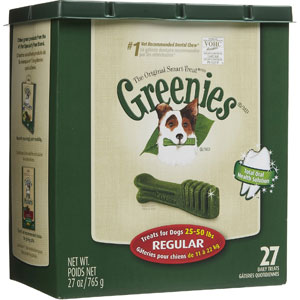Greenies Tub Treat Pack Regular, 27 oz (27 Treats)