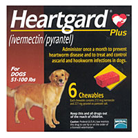 Heartgard Plus for Dogs, 51-100 lbs, Brown, 12 Chewables