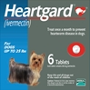 Heartgard for Dogs up to 25 lbs, Blue, 6 Tablets