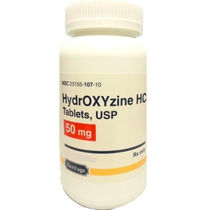 Hydroxyzine HCl 50 mg, 30 Tablets