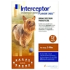 Interceptor for Dogs 2-10 lbs, Brown, 12 Pack