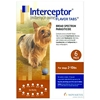 Interceptor for Dogs 2-10 lbs, Brown, 6 Pack