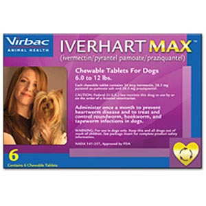 Iverhart Max for Dogs 6-12 lbs, Purple, 6 Pack