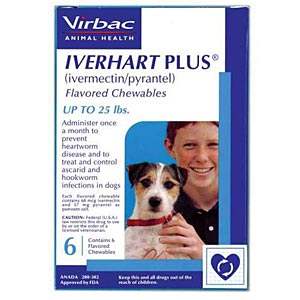 Iverhart Plus for Dogs 1-25 lbs, Blue, 6 Pack