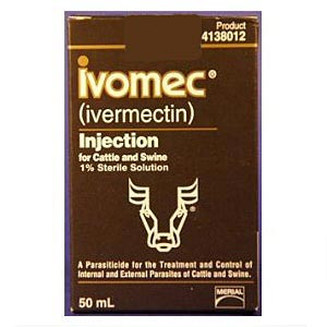 Ivomec (1% Ivermectin) for Cattle & Swine, 50 mL