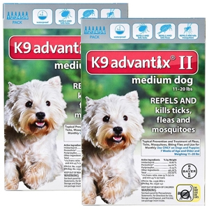 K9 Advantix II for Dogs 11-20 lbs, 12 Pack (Teal)