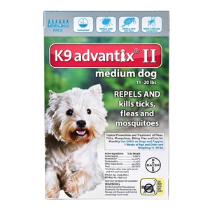 K9 Advantix II for Dogs 11-20 lbs, Teal, 6 Pack