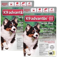 K9 Advantix II for Dogs 21-55 lbs, Red, 12 Pack