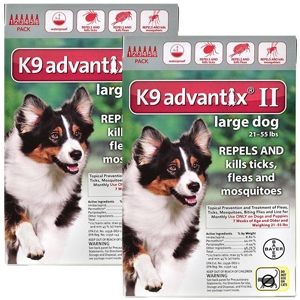 K9 Advantix II for Dogs 21-55 lbs, 12 Pack (Red)