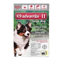 K9 Advantix II for Dogs 21-55 lbs, Red, 6 Pack