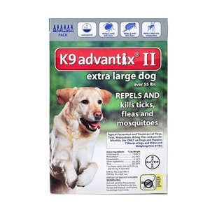K9 Advantix II for Dogs over 55 lbs, 6 Pack (Blue)