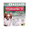 K9 Advantix II for Dogs up to 10 lbs, Green, 4 Pack