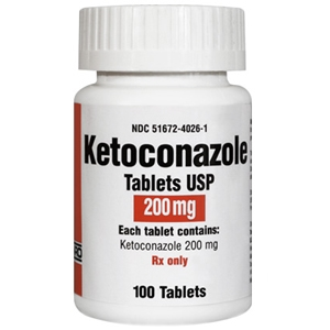 Ketoconazole 200 mg, 100 Tablets