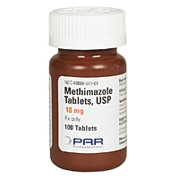 Methimazole 10 mg, 100 Tablets
