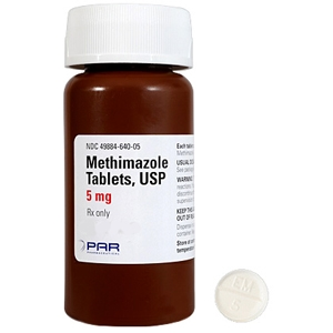 Methimazole 5 mg, 60 Tablets