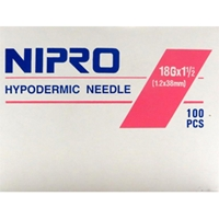 Needles 18 gauge x 1-1/2 in, Monoject, 100
