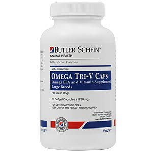 Omega Tri-V Caps For Medium Breeds 31-60 lbs, 60 Capsules