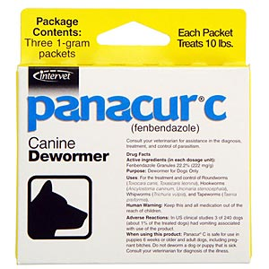 Panacur C (Fenbendazole) Granules, 1 Grams, 3 Packets