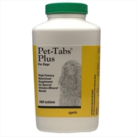Pet-Tabs Plus Vitamin Mineral Supplement, 180 Tablets pet-tabs plus  vitamin mineral supplement 180 tablets palatable hight potency nutritional dogs special viitamin-mineral needs older pets sale 15% off regular price while supplies last petmeds pet tabs pettabs petabs