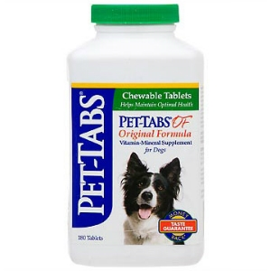 Pet-Tabs OF (Original Formula) Vitamin Mineral Supplement, 180 Tablets