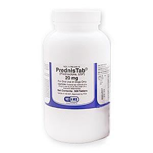 PrednisTab [Prednisolone] 20 mg, 60 Tablets