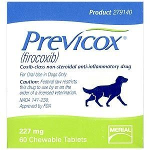 Previcox 227 mg, 60 chewable tablets (Firocoxib)