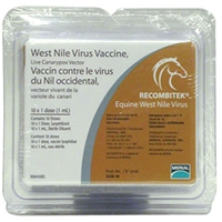 Recombitek West Nile Virus Vaccine, 10 x 1 Dose Vials