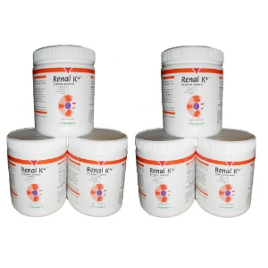 Renal K+ (Potassium Gluconate) Powder, 100 gm (6 Pack)