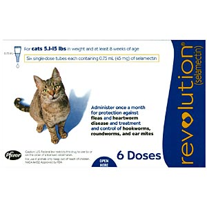 Revolution for Cats 5-15 lbs, Blue, 6 Pack