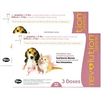 Revolution for Puppies and Kittens under 5 lbs, Pink, 6 Pack