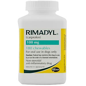 Rimadyl (Carprofen) 100mg, 180 Chewable Tablets