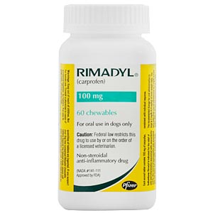 Rimadyl (Carprofen) 100mg, 30 Chewable Tablets