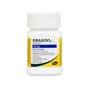 Rimadyl (Carprofen) 25mg, 30 Chewable Tablets