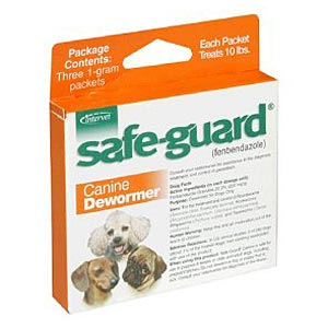 Safe-Guard (Fenbendazole) Canine Wormer, 1 gm