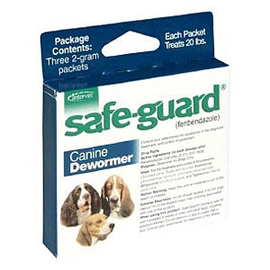Safe-Guard (Fenbendazole) Canine Wormer, 2 gm