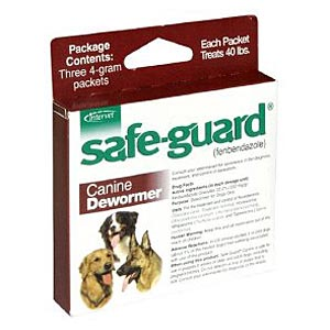 Safe-Guard (Fenbendazole) Canine Wormer, 4 gm