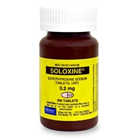 Soloxine (Levothyroxine) 0.2 mg, 250 Tablets