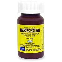 Soloxine (Levothyroxine) 0.3 mg, 250 Tablets