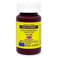Soloxine (Levothyroxine) 0.4 mg, 250 Tablets