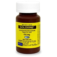 Soloxine (Levothyroxine) 0.8 mg, 250 Tablets