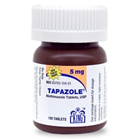 Tapazole (methimazole) 5 mg, 100 Tablets