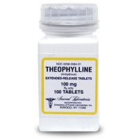 Theophylline 100 mg, 100 Tablets