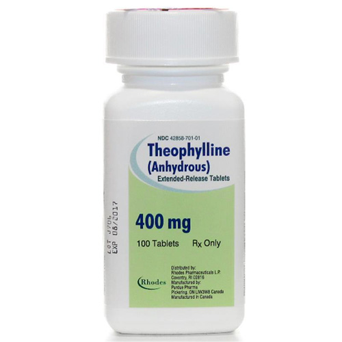 Theophylline Extended-Release 400 mg, 100 Tablets