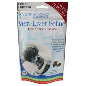 Vetri-Liver Feline Bite-Sized Chews, 120 Soft Chews